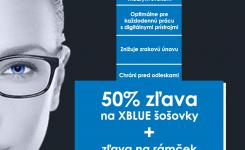 XBLUE okuliarové šošovky