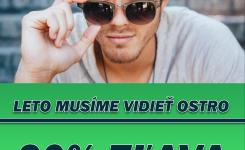 20% zľava na slnečné dioptrické okuliarové šošovky