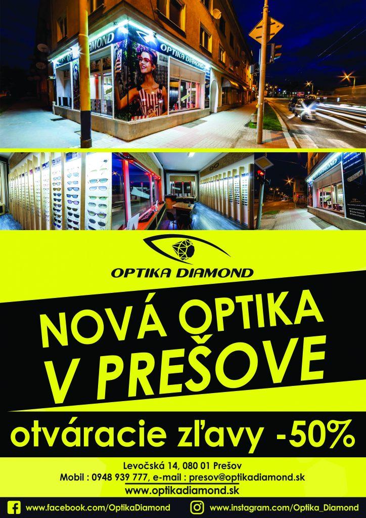19ad50cbb Nová OPTIKA v Prešove – Optika Diamond