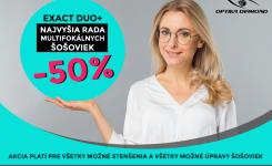 Najvyššia rada multifokálnych šošoviek v zľave -50%
